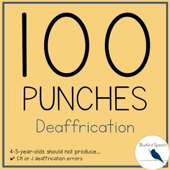 100 Hole Punches: Deaffrication CH and J - Phonological Process Speech Therapy