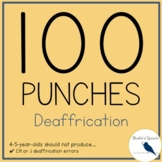 100 Hole Punches: Deaffrication CH and J Speech Phonological Process Therapy