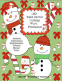 Christmas Math Activities  Word Problems! 100 Task Cards!