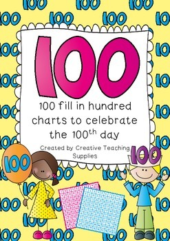 100 Hundred Charts to fill in for the 100th Day
