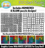 100 Hundreds Charts Puzzles Clipart {Zip-A-Dee-Doo-Dah Designs}
