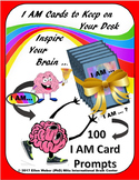 "100 ""I AM"" Interactive Task Cards - Brain Fact on Each"