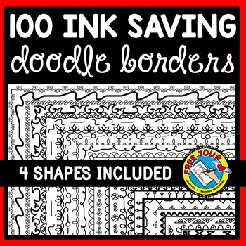 100 PAGE BORDERS (SKINNY BORDERS FOR WORKSHEETS AND ACTIVITIES) DOODLE BORDERS