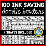100 PAGE BORDERS AND FRAMES CLIPART (BLACK AND WHITE)