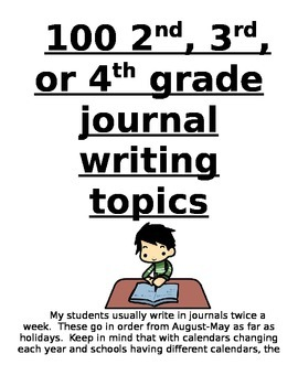 100 Journal Prompts for Elementary Grades