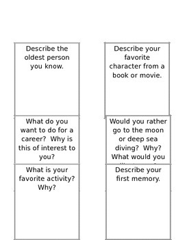 100 Journal Writing Prompt Cards