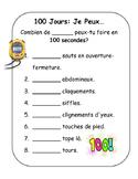 100 Jours - Centième jour de l'école - 100 Day French Activity