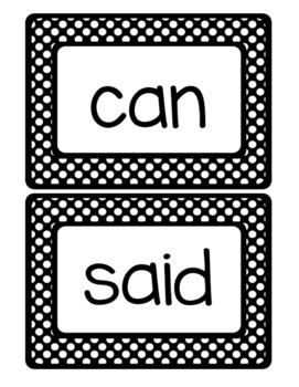 100 Jumbo Kindergarten Sight Word Wall Words: Fry List