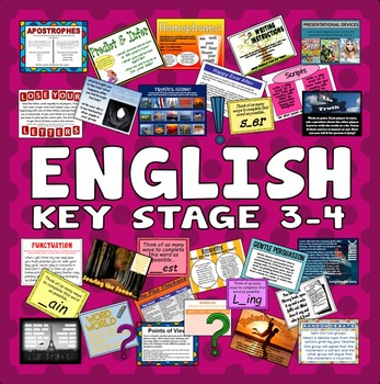 100 KEY STAGE 3-4 ENGLISH ACTIVIES GAMES STARTERS TEACHING RESOURCES