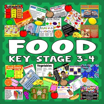 100 KEY STAGE 3-4 FOOD TECHOLOGY ACTIVITIES+GAMES+TASKS -TEACHING RESOURCES