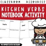 100+ Kitchen Verbs Notebook Activity
