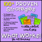 100+ FUN Learning Strategies in 4 Color-Coded Card Sets