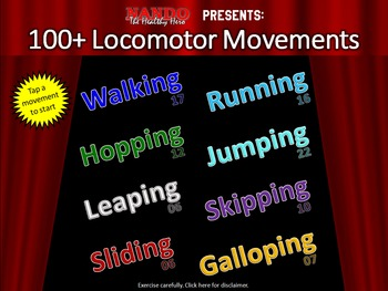 100+ Locomotor Movements