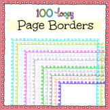 100 Loopy Page Borders. High Resolution PNG Clipart.