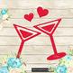 100 Love Cocktail Glass Clip Arts, Love Valentine Clip arts