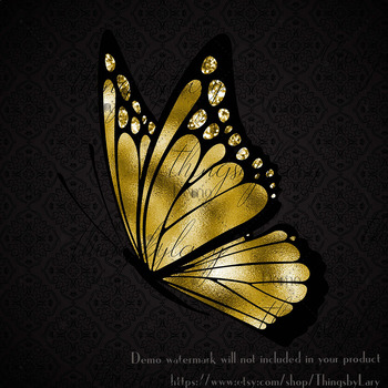 100 Luxury Butterfly Side View Clip Arts, Wedding Clip Arts