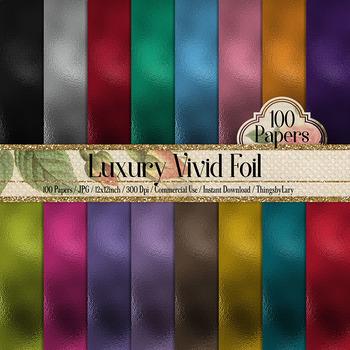 100 Luxury Metallic Foil Texture Papers