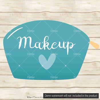 100 Makeup Bag Clip Arts, Women Beauty Clip Arts