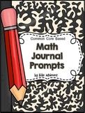 Math Journal Prompts 1st Grade
