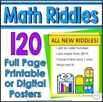 100 Math Riddle Posters: A Riddle for Every Number from One to 100