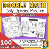 100 Math Spiral Review Great for Distance Learning Packets
