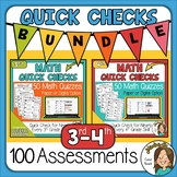 100 Math Worksheets for Distance Learning 3rd & 4th grade