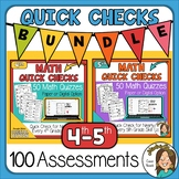 100 Math Worksheets for Distance Learning 4th & 5th grade