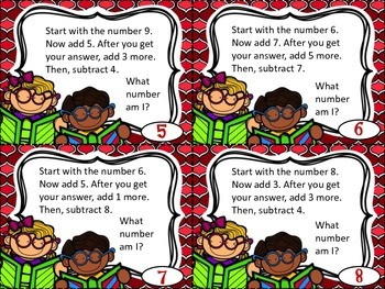 100 Mental Math Task Cards (Set 1)