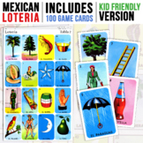 100 Mexican Loteria Game Cards   Kid Friendly   Mexican Bingo