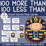 100 More 100 Less Math Scoot Game/Task Cards