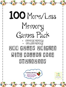 100 More & 100 Less Memory Pack - Aligned with Common Core Standards