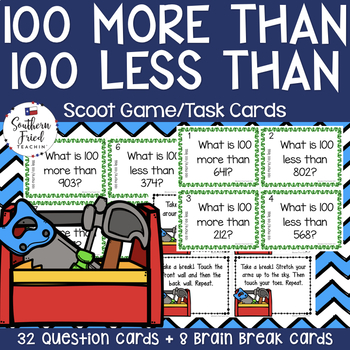100 More 100 Less Math Scoot Game