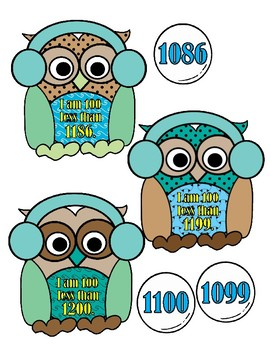 100 More Than or 100 Less Than - Owls
