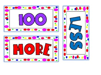 100 More or Less for 100th Day