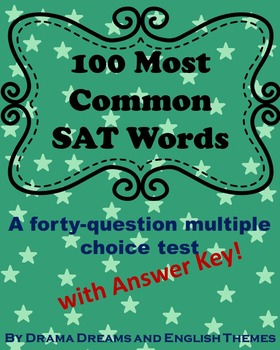 100 Most Common SAT Vocabulary Words Test