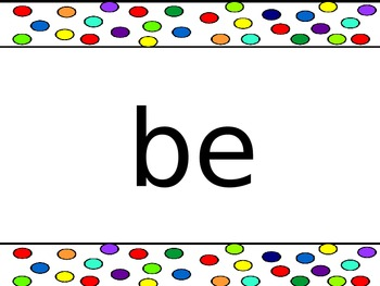 100 Most Common Words - Sight Words - PowerPoint - Flashcards