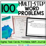 100 Multi Step Word Problems for Third and Fourth Grade Di