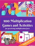100 Games and Activities for Practicing Multiplication Facts: Task Cards