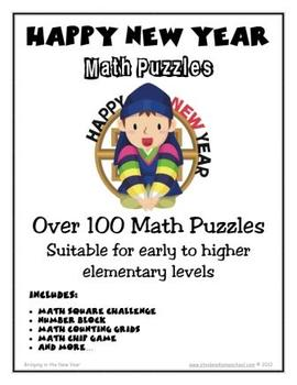 100+ New Year Themed Number Puzzles, Games and Worksheets