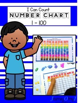 100 Number Chart - File Folder Activity