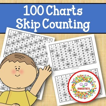 100 Charts with Skip Counting for Students