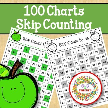 100 Charts with Skip Counting