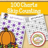 100 Charts with Skip Counting - Autumn