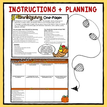 Thanksgiving One Pager Activity