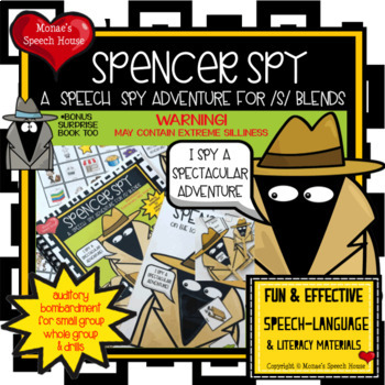 Speech Spy Auditory Bombardment WORKSHEETS book SPEECH THERAPY PRE-K
