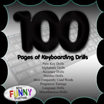100 Pages of Keyboarding Drills