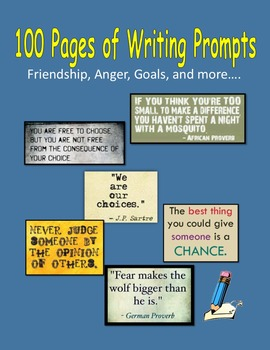 100 Pages of Writing Prompts