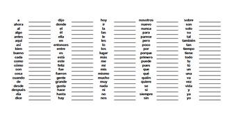 100 Palabras de Alta Frecuencia - High Frequency Words