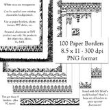 Designer's Resource: 100 Paper Border Designs 8.5 x 11