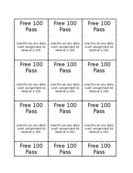 100 Pass Template